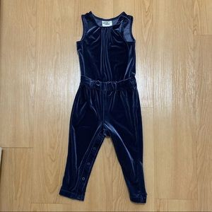 Toddler Velvet Jumpsuit